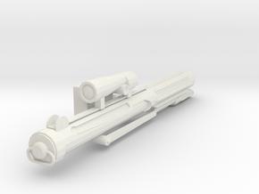 Trooper Blaster in White Natural Versatile Plastic
