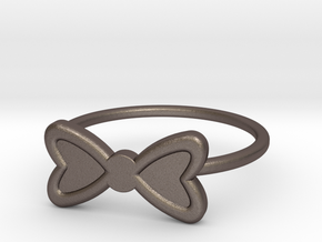 Midi Bow Ring, subtle and chic by titbit in Polished Bronzed Silver Steel