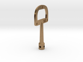 DruNKey v1.0 - A Drum Key Bottle Opener in Natural Brass