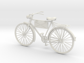 1:16 German Infantry Scout Bicycle in White Natural Versatile Plastic