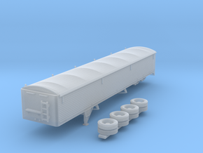 1:160 N Scale 43' Aluminum Grain Trailer w/ Tarp in Smooth Fine Detail Plastic