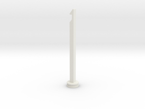 NERF Stampede Plunger rod in White Strong & Flexible