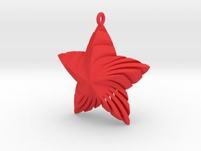Tortuous Star Pendant in Red Processed Versatile Plastic