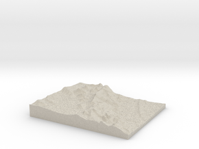 Model of Peak a boo Rock in Natural Sandstone