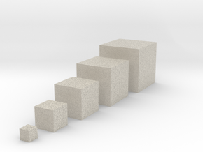 Cube objects for test printing_V1.0 in Natural Sandstone