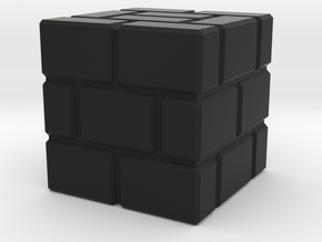 Super Mario Brick Block in Black Strong & Flexible