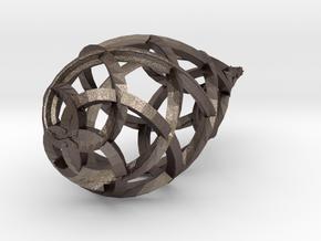 drop pendant in Polished Bronzed Silver Steel