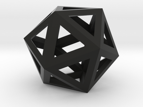 ikosaeder kante in Black Strong & Flexible