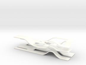 Organic Shelving in White Processed Versatile Plastic