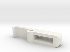 Latch in White Natural Versatile Plastic