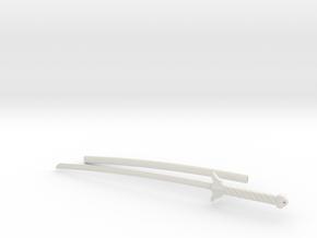 Enishi Yukishiro's Wato (Sword w/ Scabbard) in White Natural Versatile Plastic