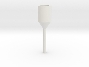 AEG Barrel Drill Adapter (3mm) in White Natural Versatile Plastic