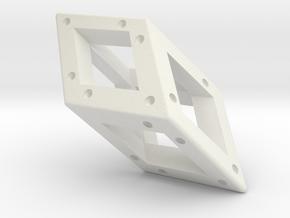 Crystal Dice Pendant (Pips) in White Natural Versatile Plastic