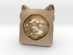 Bread Cat!  AKA Toaster Kitty in Polished Gold Steel