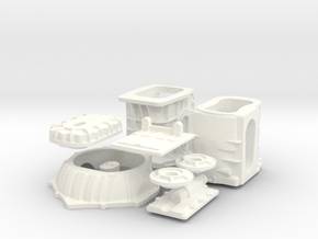 1/8 T-44 Transaxle With Chevy Bellhousing in White Processed Versatile Plastic