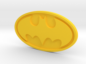 Batman emblem in Yellow Processed Versatile Plastic