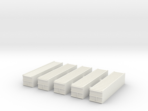 "1/700 40"" Container Stack (x5) in White Natural Versatile Plastic"