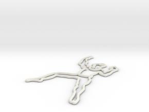 Giocoliere-2 in White Natural Versatile Plastic