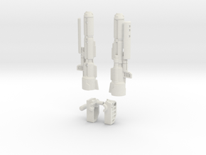 G1 Inspired Optimus Cannon w/LED and Battery Compa in White Natural Versatile Plastic