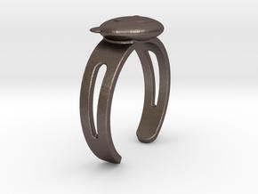 Kuma-san (Bear) Ring in Polished Bronzed Silver Steel