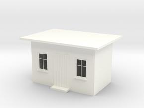 Wartehaus, H0 in White Processed Versatile Plastic