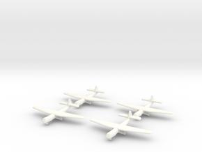 AS.51 Horsa Glider (United Kingdom)-1/700-(x4)A in White Processed Versatile Plastic