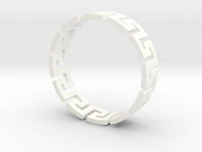Meander Ring X12 in White Processed Versatile Plastic