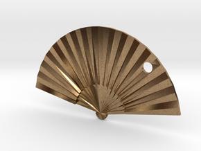 Oriental Fan in Natural Brass