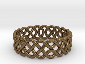 Celtic Ring - 17mm ⌀ in Natural Bronze