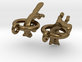 Fox Earrings in Natural Bronze