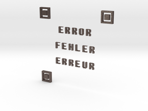 ERROR FEHLER ERREUR QR CODE in Polished Bronzed Silver Steel