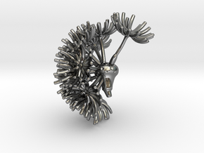 Wild wind Dandelion / part 01 - pendant  in Polished Silver