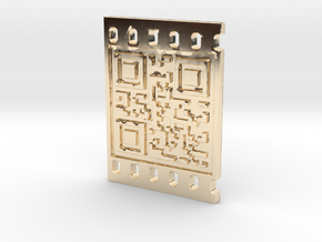 OCCUPY NEW YORK QR CODE 3D 30mm in 14K Gold