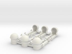 C-47 1/72 Parapack Rack in White Natural Versatile Plastic
