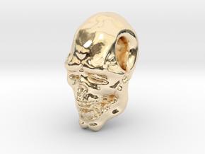 FridayThe13thPainted Joker Skull in 14K Yellow Gold