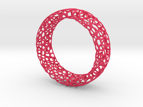 Voronoi Ring in Pink Processed Versatile Plastic