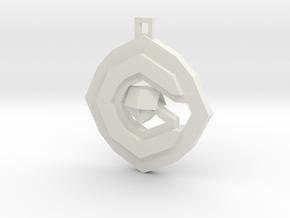 OCG Pendant in White Natural Versatile Plastic