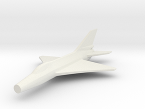 1/200 Scale Shenyang (Chengdu) J-7  in White Natural Versatile Plastic