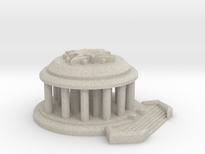 Temple of the Sun Large Model Display Piece in Natural Sandstone