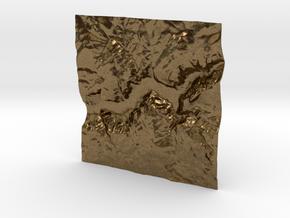 3'' Yosemite Valley Terrain Model, California, USA in Natural Bronze