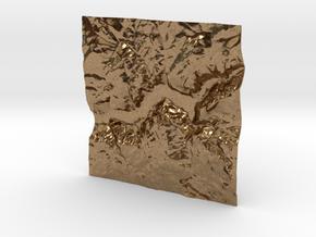 3'' Yosemite Valley Terrain Model, California, USA in Natural Brass