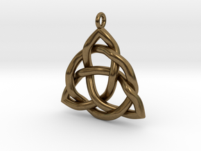 Triquetra Pendant or Trinity Knot Pendant in Natural Bronze