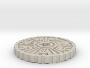 Custom Coin in Natural Sandstone