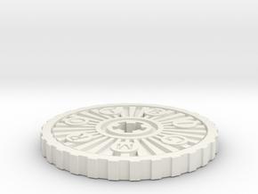 Custom Coin in White Natural Versatile Plastic