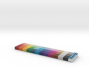 Shapeways Full Color Calibration Palette in Full Color Sandstone