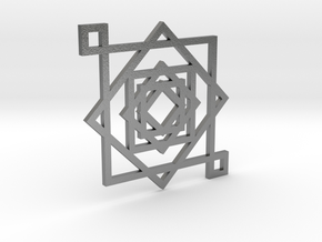 Illusionary Square Pendant in Natural Silver