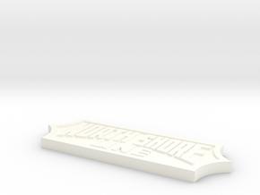 NSL Logo in White Processed Versatile Plastic