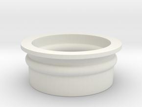 Shotshotglass 10 Send-Shotgun Shell in White Natural Versatile Plastic