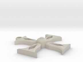 Templar Cross Pendant in Natural Sandstone