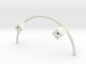 Apollo BPC LES Supports in White Natural Versatile Plastic